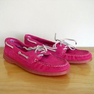 Sperry Top-Sider A/O Boat Shoe Pink Suede 7.5